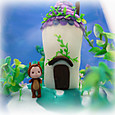 小花の咲く家